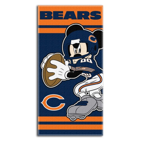 Chicago Bears Mickey Mouse 30X60 Beach Towel