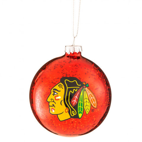 Chicago Blackhawks Mercury Glass Ball Christmas Ornament - Pro Jersey Sports