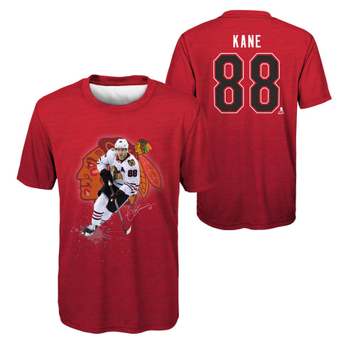 Youth Patrick Kane Sublimated Player Action Performance Tee