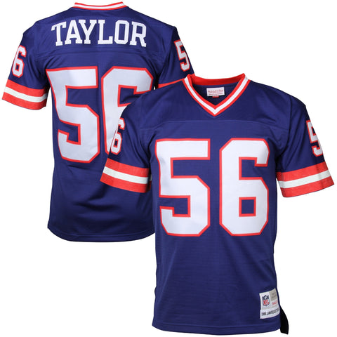 Mens New York Giants Lawrence Taylor Mitchell & Ness Royal Blue Retired Player Vintage Replica Jersey
