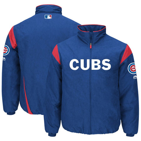 Men's Chicago Cubs Majestic On-Field Therma Base Thermal Full-Zip Jacket