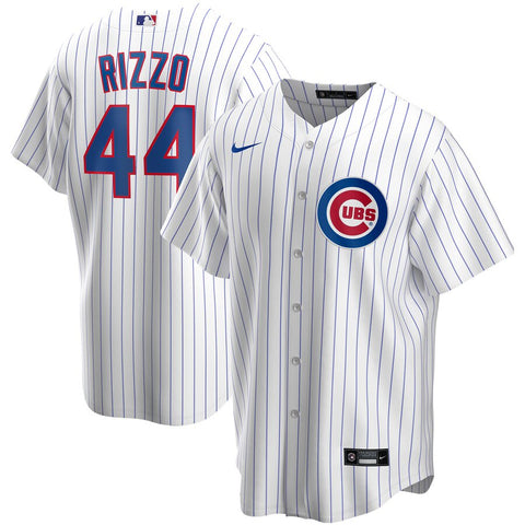 NIKE Men's Anthony Rizzo Chicago Cubs White Home Replica Jersey