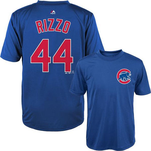 Youth MLB Anthony Rizzo Chicago Cubs Synthetic Cool Base T-Shirt By Majestic