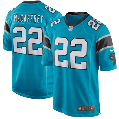 Men's Carolina Panthers Christian McCaffrey Nike Blue Game Jersey