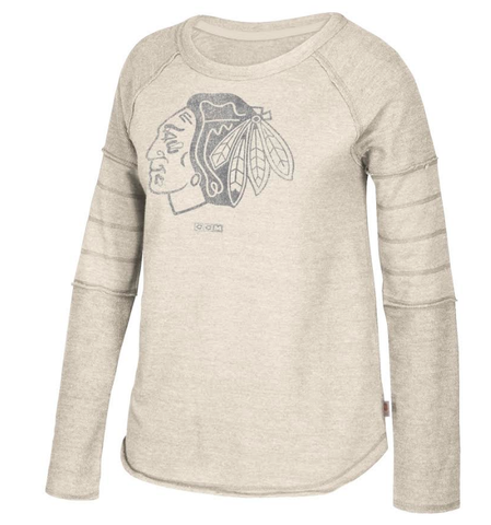 Women's Chicago Blackhawks Oathe Finished CCM Long Sleeve Tee