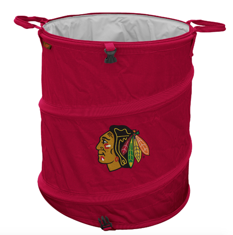 Chicago Blackhawks Collapsible 3-in-1 Cooler, Garbage Can, Hamper By Logo Brands