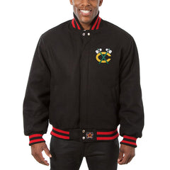 Chicago Blackhawks JH Design All Wool Jacket - Black