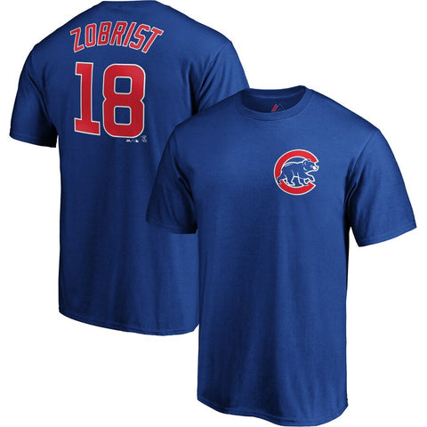 Youth Chicago Cubs Ben Zobrist Majestic Royal Official Player Name & Number T-Shirt