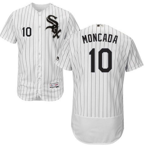 Chicago White Sox Yoan Moncada Majestic Home White Flexbase Authentic Collection Player Jersey