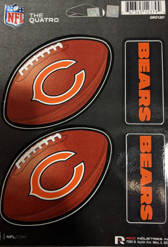 Chicago Bears The Quatro Decal Sheet