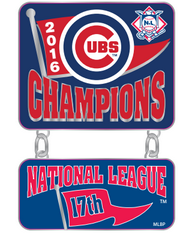 Chicago Cubs 2016 National League Champions Dangler Pin