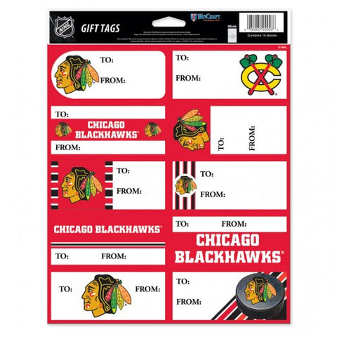 Chicago Blackhawks Gift Tags