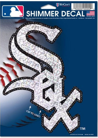 MLB Chicago White Sox 5X7 Shimmer Decal By Wincraft