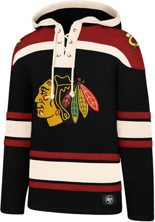 '47 Chicago Blackhawks Superior Lacer Black Fashion Hood