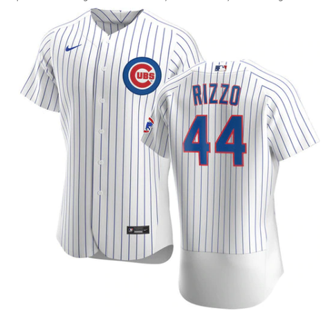 Men's Chicago Cubs Anthony Rizzo Nike White Home Authentic Player Jersey