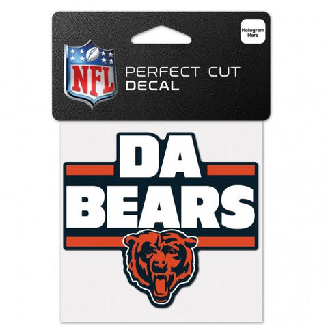 "Chicago Bears ""DA BEARS"" Perfect Cut 4X4 Decal By Wincraft"