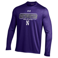 Men's NCAA Northwestern Wildcats Heatgear Purple Long Sleeve Tech Tee