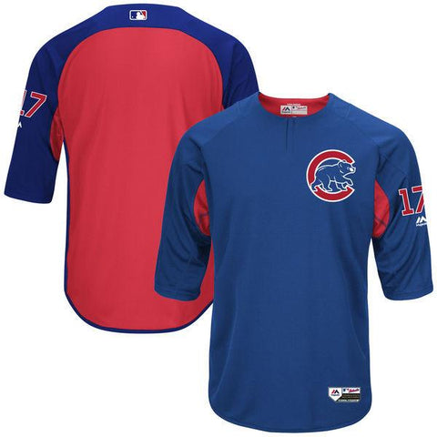 Chicago Cubs Kris Bryant Royal Authentic Collection On-Field 3/4-Sleeve Player Batting Practice Jersey
