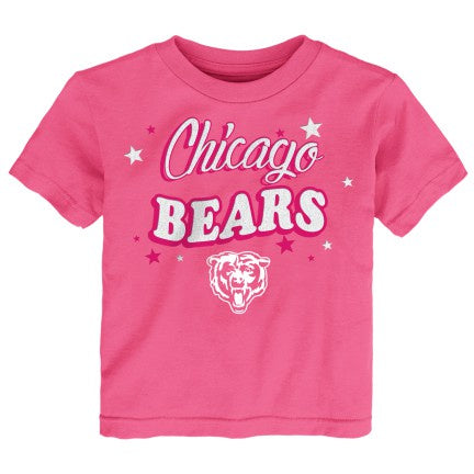 Toddler Chicago Bears Girls My Team Pink Short Sleeve Tee