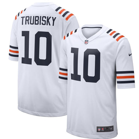 Men's Chicago Bears Mitchell Trubisky Nike White Alternate Classic Game Jersey