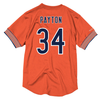 Men's Mitchell & Ness Walter Payton Orange Chicago Bears Retired Player Name & Number Mesh Crew Neck Top