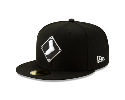 Chicago White Sox New Era Diamond Alternate Logo 59FIFTY Fitted Hat - Black