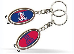 Arizona Wildcats Metal Spinner Keychain