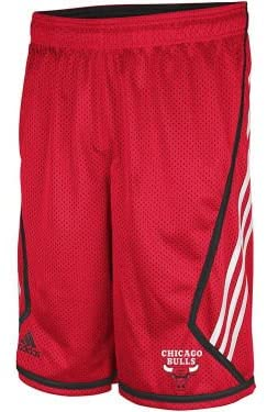Chicago Bulls NBA Men's 3 Stripe Mesh Shorts-Red
