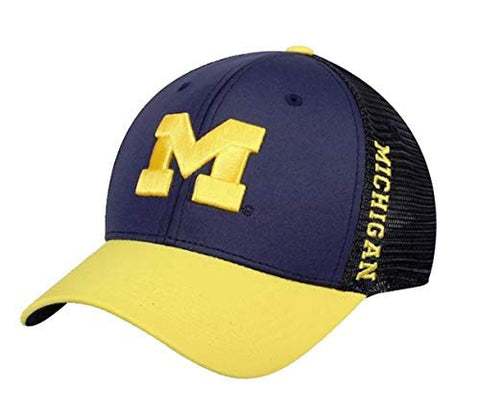 Mens Michigan Wolverines Chatter One Fit Flex Fit Hat By Top Of The World