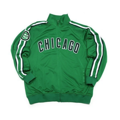 Youth Chicago Cubs Kelly Green St. Patrick's Day Track Jacket