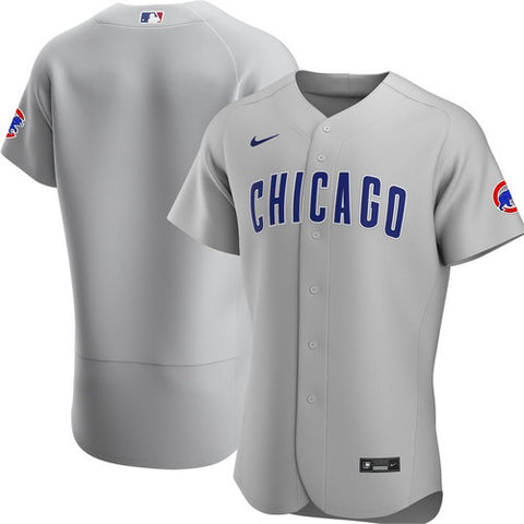 Chicago Cubs Gray Authentic Road Jersey by Nike