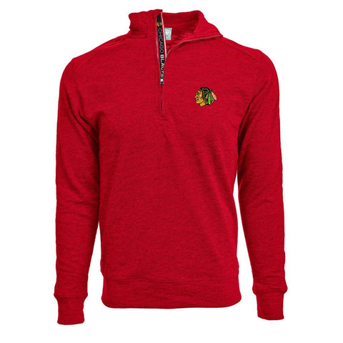Mens Chicago Blackhawks Center Cut Covert Text 1/4 Zip Jacket