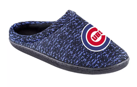 Men's Chicago Cubs Knit Cup Sole Slipper