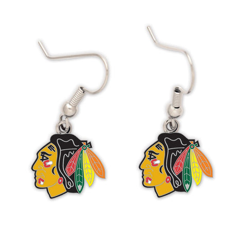 Chicago Blackhawks Dangle Earrings by Wincraft - Pro Jersey Sports