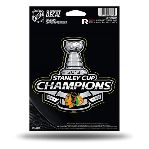 NHL Chicago Blackhawks 2013 Stanley Cup Champions Die Cut Decal