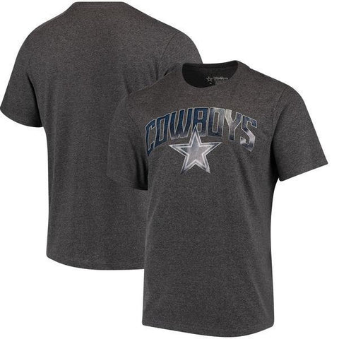 Men's Dallas Cowboys Charcoal Rescender Wave T-Shirt