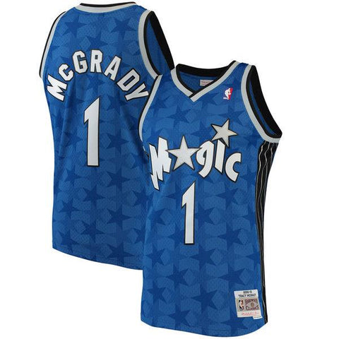 Men's Orlando Magic Tracy McGrady Mitchell & Ness Blue 2001-02 Hardwood Classics Swingman Jersey