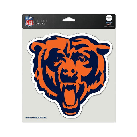 "Chicago Bears 8x8 Die Cut Window Cling-full color ""Bear"" - Pro Jersey Sports"