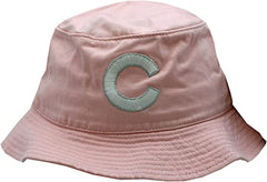 Chicago Cubs Bucket Hat Pink White/Silver C Logo