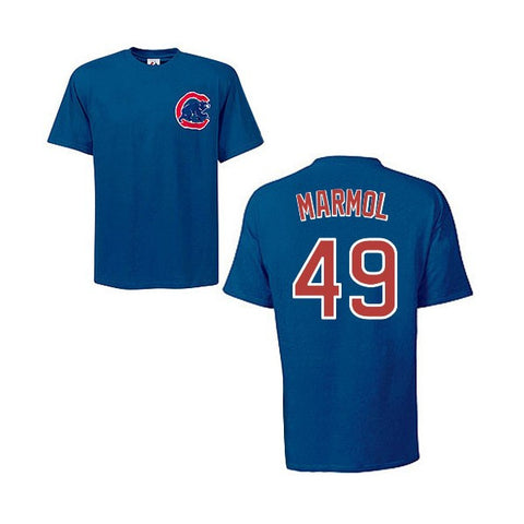 Chicago Cubs Carlos Marmol Adult Player T-Shirt