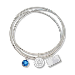 Chicago Cubs Crystal Bangle Bracelets by LogoArt® - Pro Jersey Sports