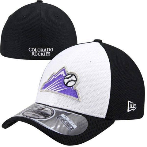 New Era Colorado Rockies White/Black Diamond Era 39THIRTY Hat