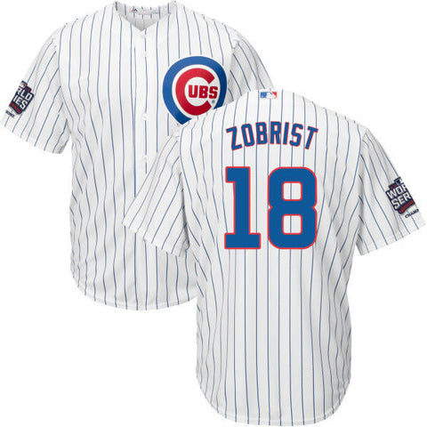 Chicago Cubs Cool Base Cubs Ben Zobrist Mens Home Replica Jersey with World Series/Champions Patch