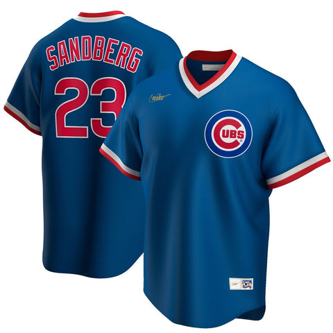 Men's Chicago Cubs Ryne Sandberg Nike Royal Road Cooperstown Collection Player Jersey
