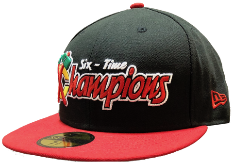 Chicago Blackhawks Stanley Cup Six Time Stanley Cup Champions 59Fifty Fitted Hat