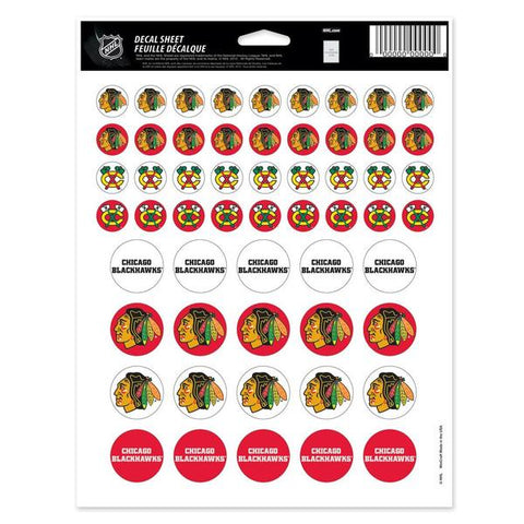 "Chicago Blackhawks Vinyl Sticker Sheet 8.5"" x 11"""