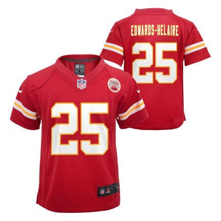 Youth Kansas City Chiefs Clyde Edwards-Helaire Nike Red Game Jersey