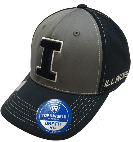 Illinois Fighting Illini Two-Tone Dynamic Memory Fit Flex Fit Hat