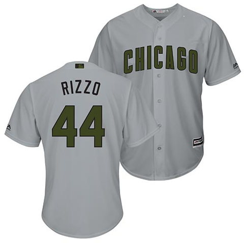 Anthony Rizzo Chicago Cubs 2018 Memorial Day Road Cool Base Jersey