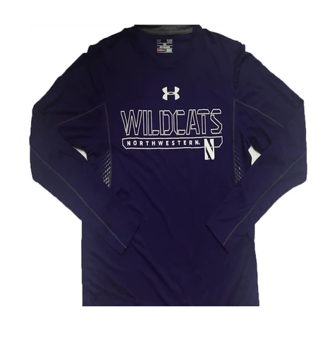 Men's Under Armour Northwestern Wildcats Limitless HeatGear Purple Long Sleeve T-Shirt